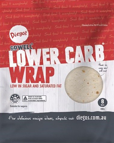 Diego's GoWell Lower Carb Wrap (8Pack) 400g