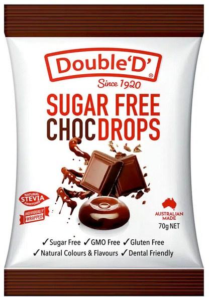 Double D Sugar Free Choco Drops 70g