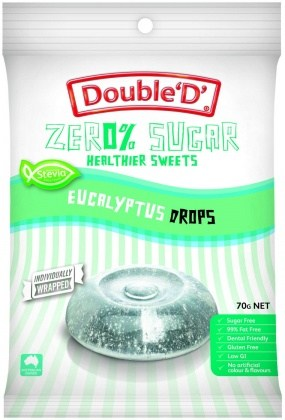 Double D Sugar Free Eucalyptus Drops 70g