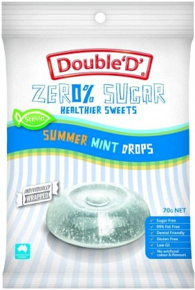 Double Dee Sugar Free Clear Mint Drops 70g