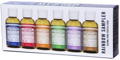 Dr Bronner's Giftpack Rainbow Sampler 6x59ml