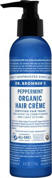 Dr Bronner's Hair Creme Perppermint 177ml
