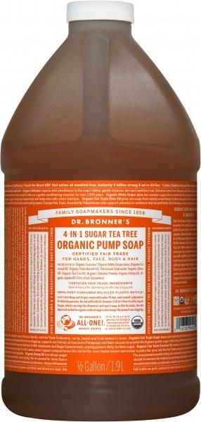 Dr Bronner's Organic Pump Soap Tea Tree 1.89L