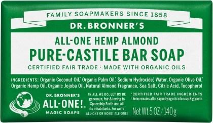 Dr Bronner's Pure Castile Bar Soap Almond 140g