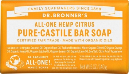 Dr Bronner's Pure Castile Bar Soap Citrus 140g