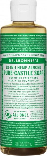 Dr Bronner's Pure Castile Liquid Soap Almond 237ml