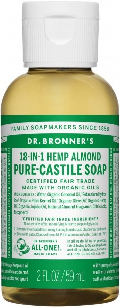 Dr Bronner's Pure Castile Liquid Soap Almond 59ml