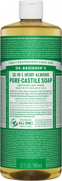 Dr Bronner's Pure Castile Liquid Soap Almond 946ml