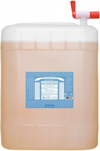 Dr Bronner's Pure Castile Liquid Soap Baby Unscented 18.9L