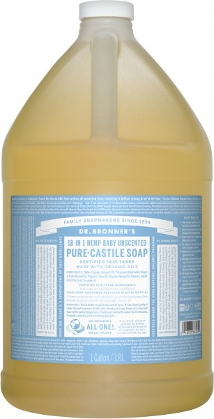 Dr Bronner's Pure Castile Liquid Soap Baby Unscented 3.78L