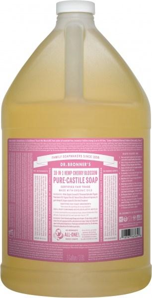 Dr Bronner's Pure Castile Liquid Soap Cherry Blossom 3.78L