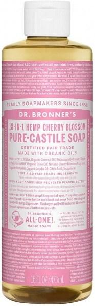 Dr Bronner's Pure Castile Liquid Soap Cherry Blossom 473ml