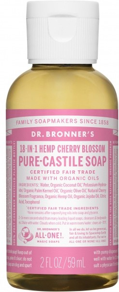Dr Bronner's Pure Castile Liquid Soap Cherry Blossom 59ml