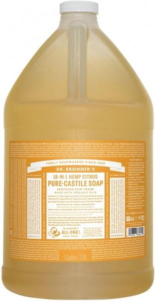 Dr Bronner's Pure Castile Liquid Soap Citrus 3.78L