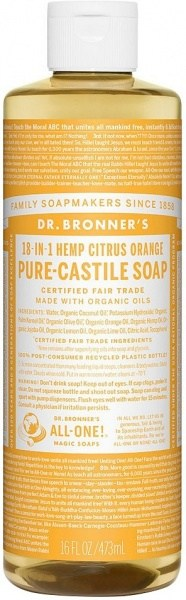 Dr Bronner's Pure Castile Liquid Soap Citrus  473ml