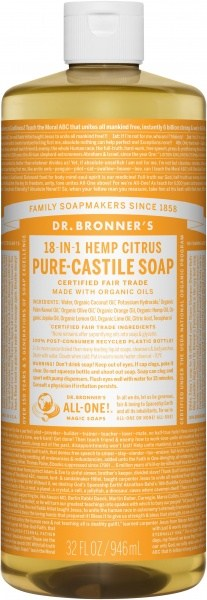 Dr Bronner's Pure Castile Liquid Soap Citrus 946ml