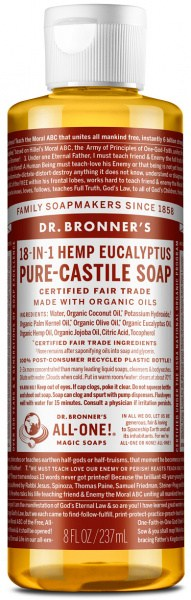 Dr Bronner's Pure Castile Liquid Soap Eucalyptus 237ml