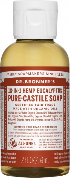 Dr Bronner's Pure Castile Liquid Soap Eucalyptus 59ml