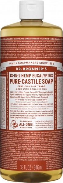 Dr Bronner's Pure Castile Liquid Soap Eucalyptus 946ml