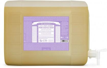 Dr Bronner's Pure Castile Liquid Soap Lavender 18.9L