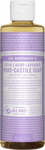 Dr Bronner's Pure Castile Liquid Soap Lavender 237ml