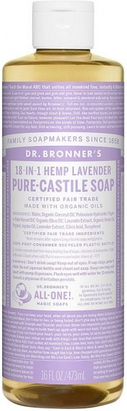 Dr Bronner's Pure Castile Liquid Soap Lavender 473ml