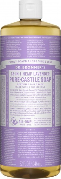 Dr Bronner's Pure Castile Liquid Soap Lavender 946ml