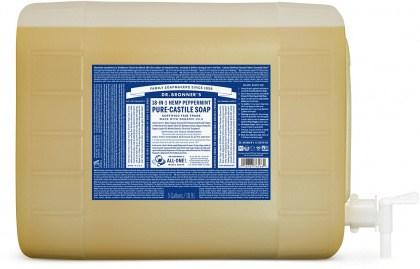 Dr Bronner's Pure Castile Liquid Soap Peppermint 18.9L