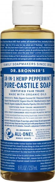 Dr Bronner's Pure Castile Liquid Soap Peppermint 237ml