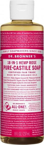 Dr Bronner's Pure Castile Liquid Soap Rose 237ml