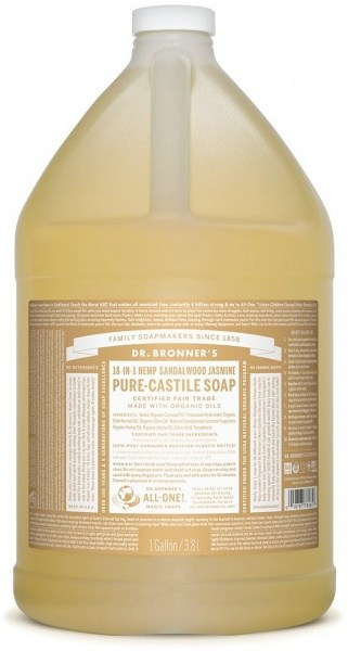 Dr Bronner's Pure Castile Liquid Soap Sandalwood Jasmine 3.78L