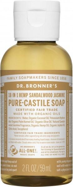 Dr Bronner's Pure Castile Liquid Soap Sandalwood Jasmine 59ml