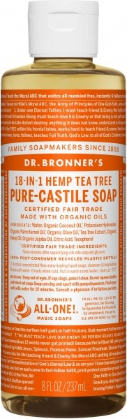 Dr Bronner's Pure Castile Liquid Soap Tea Tree 237ml