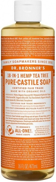 Dr Bronner's Pure Castile Liquid Soap Tea Tree 473ml