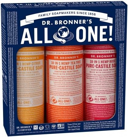 Dr Bronner's Summer Lovin' Gift Pack (3x237ml Liquid Soap)