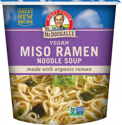 Dr McDougall Big Cup Soup Miso with Organic Noodles 54g