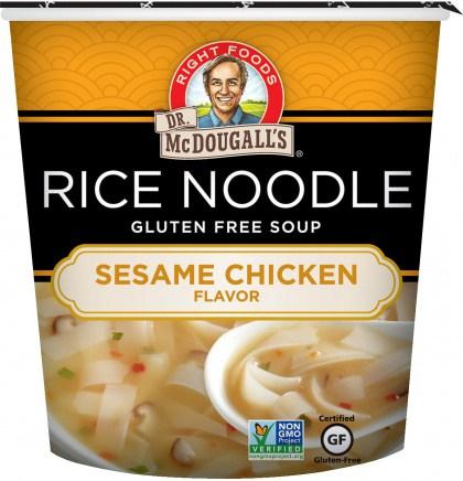 Dr McDougall Rice Noodles Sesame Chicken  37g
