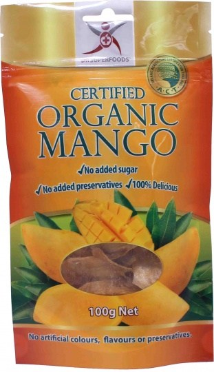 Dr Superfoods Certified Organic Dried Mango 100g
