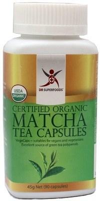 Dr Superfoods Organic Matcha Tea Capsules 90Caps OCT16