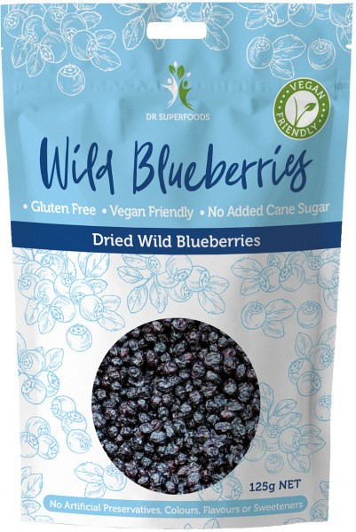 Dr Superfoods Super Wild Blueberries 125g