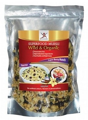 Dr Superfoods Wild & Organic Super Berry Munch Muesli (Toasted) Bag 500g