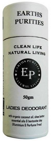 Earths Purities Ladies Natural Deodorant Stick 50g