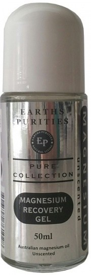 Earths Purities Magnesium Recovery Gel Unscented Roll On 50ml