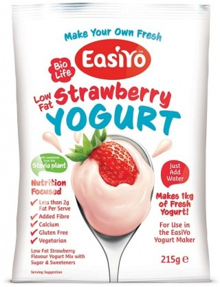 Easiyo BioLife Low Fat Sweet Strawberry Yogurt 215g AUG17