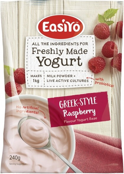 Easiyo Greek Style Raspberry Yogurt 240g