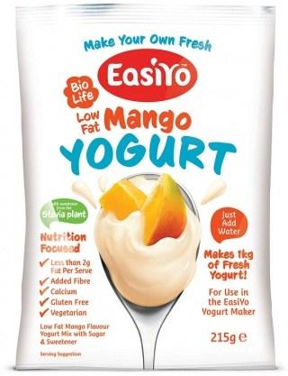 Easiyo Low Fat Sweet Mango Yogurt 215g AUG17