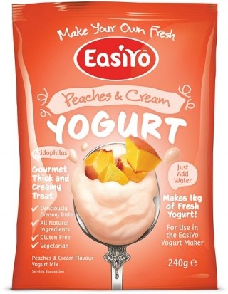 Easiyo Peaches & Cream Yogurt 240g