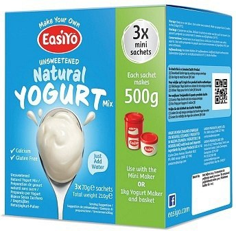 Easiyo Unsweetened Natural Yogurt (3x70g) 210g