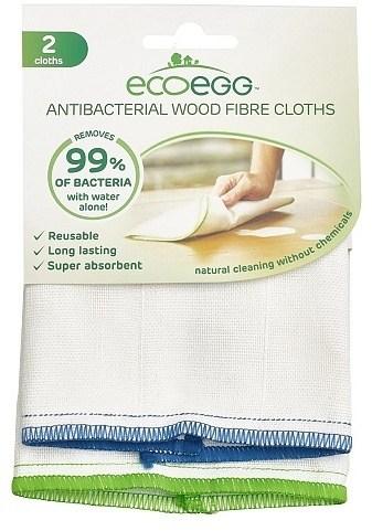 Ecoegg Antibacterial Wood Fibre Cloths 2 Pack