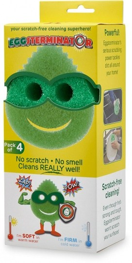 Ecoegg Eggsterminator Scratch Free Cleaning Sponge Pack of 4